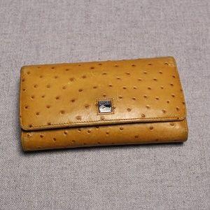 Vintage Dooney & Bourke Ostrich Leather Wallet